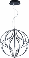 ET2 E21176-BK Aura Contemporary Black LED 24  Drop Ceiling Lighting