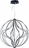 ET2 E21178-BK Aura Modern Black LED 31  Ceiling Light Pendant