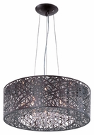ET2 E21308-10BZ Contemporary Bronze 1  Tall Hanging Drum Pendant Light