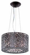 ET2 E21309-10BZ Modern Bronze 15.75  Wide Drum Pendant Hanging Light