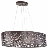 ET2 E21310-10BZ Contemporary Bronze 1  Tall Drum Pendant Light