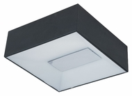 ET2 E21362-61BK Modern Black 13  Wide Flush Mount Lighting