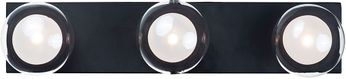 ET2 E21453-93BK Pod Modern Black LED 3-Light Lighting For Bathroom