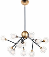 ET2 E21455-93BKGLD Pod Modern Black / Gold LED Chandelier Light