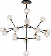 ET2 E21457-93BKGLD Pod Contemporary Black / Gold LED Chandelier Lighting