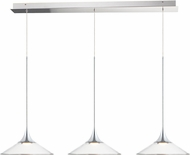 ET2 E21535-24PC Cono Modern Polished Chrome LED Multi Pendant Lighting