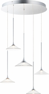 ET2 E21536-24PC Cono Contemporary Polished Chrome LED Multi Pendant Light