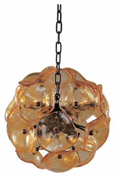 ET2 E22090-26 Cassini Bronze Finish 12  Tall Xenon Hanging Pendant Light