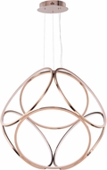 ET2 E22126-RG Form Contemporary Rose Gold LED 34.5  Hanging Pendant Light