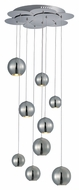 ET2 E22196-PC Bollero Contemporary Polished Chrome Finish 17  Wide LED Multi Lighting Pendant