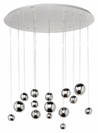 ET2 E22198-PC Bollero Modern Polished Chrome Finish 39.5  Wide LED Multi Pendant Lamp