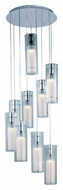 ET2 E22204-10 Frost Modern 9 Light Multi Pendant Lighting Fixture