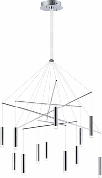 ET2 E22277-75PC Picolo Contemporary Polished Chrome LED Multi Pendant Lighting Fixture