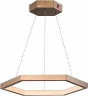 ET2 E22283-BCN Hex Contemporary Brushed Champagne LED 23.5 Hanging Light Fixture