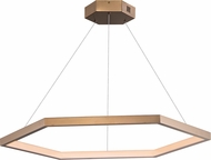ET2 E22285-BCN Hex Contemporary Brushed Champagne LED 39.5  Drop Ceiling Lighting