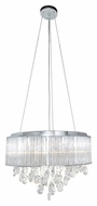 ET2 E22295-18PC Gala Polished Chrome Finish 14  Tall Xenon Drum Pendant Lighting