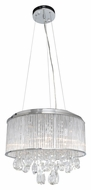 ET2 E22296-18PC Gala Polished Chrome Finish 22.5  Wide Xenon Drum Pendant Light