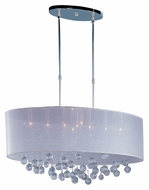 ET2 E22387-120PC Veil Polished Chrome 32 Inch Wide 9 Lamp Island Lighting
