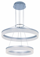 ET2 E22455-11MS Modern Metallic Silver 23.75  Wide Lighting Pendant
