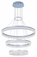 ET2 E22456-11MS Contemporary Metallic Silver 35.75  Tall Pendant Lamp