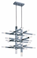 ET2 E22516-90PC Crossroads Contemporary Polished Chrome Finish 30  Wide LED Pendant Light