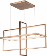 ET2 E22535-BCN Syncro Contemporary Brushed Champagne LED Island Lighting