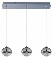 ET2 E22564-81PC Zing Contemporary Polished Chrome Finish 24.75  Wide LED Multi Pendant Lighting Fixture