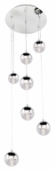 ET2 E22566-81PC Zing Contemporary Polished Chrome Finish 17  Wide LED Multi Ceiling Light Pendant
