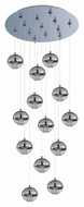 ET2 E22567-81PC Zing Modern Polished Chrome Finish 21  Wide LED Multi Ceiling Pendant Light