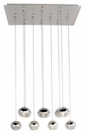 ET2 E22568-81PC Zing Contemporary Polished Chrome Finish 31.5  Wide LED Multi Drop Ceiling Light Fixture