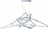ET2 E22678-PC Trapezoid Modern Polished Chrome LED Pendant Lamp