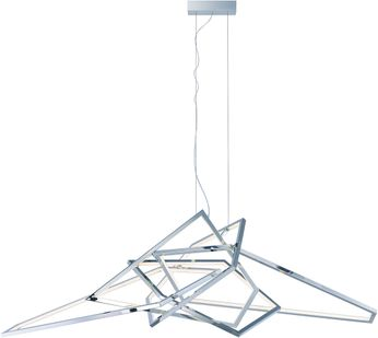 ET2 E22679-PC Trapezoid Modern Polished Chrome LED Hanging Light