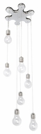 ET2 E22697-18PC Edison Modern Polished Chrome Finish 130  Tall Xenon Multi Drop Lighting Fixture