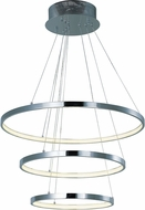 ET2 E22715-PC Hoops Modern Metallic Silver LED Multi Hanging Lamp