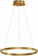 ET2 E22724-GLD Groove Contemporary Gold LED 24  Hanging Pendant Light