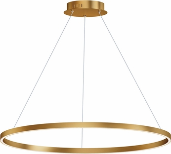 ET2 E22728-GLD Groove Modern Gold LED 40  Ceiling Light Pendant