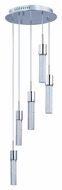 ET2 E22775-91PC Modern Polished Chrome 14  Wide Multi Pendant Lighting Fixture