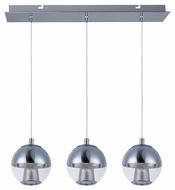 ET2 E22784-81PC Contemporary Polished Chrome 5.5  Tall Multi Pendant Light