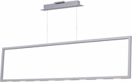 ET2 E22866-MW Rhombus Modern Polished Chrome LED Island Lighting