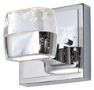 ET2 E22891-89PC Volt Contemporary Polished Chrome Finish 5 Wide LED Lighting Wall Sconce