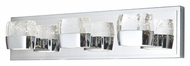 ET2 E22893-89PC Volt Contemporary Polished Chrome Finish 21  Wide LED 3 Light Bath Light Fixture