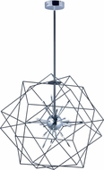 ET2 E22914-BKPC Rubic Contemporary Black and Polished Chrome LED Outdoor 34 Drop Lighting Fixture