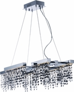 ET2 E23096-138PC Midnight Shower Contemporary Polished Chrome LED Drop Lighting