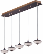 ET2 E23155-126BRZGLD Bella Bronze and Gold LED Multi Hanging Lamp