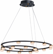ET2 E23166-75BKGLD Button Contemporary Black / Gold LED Chandelier Light