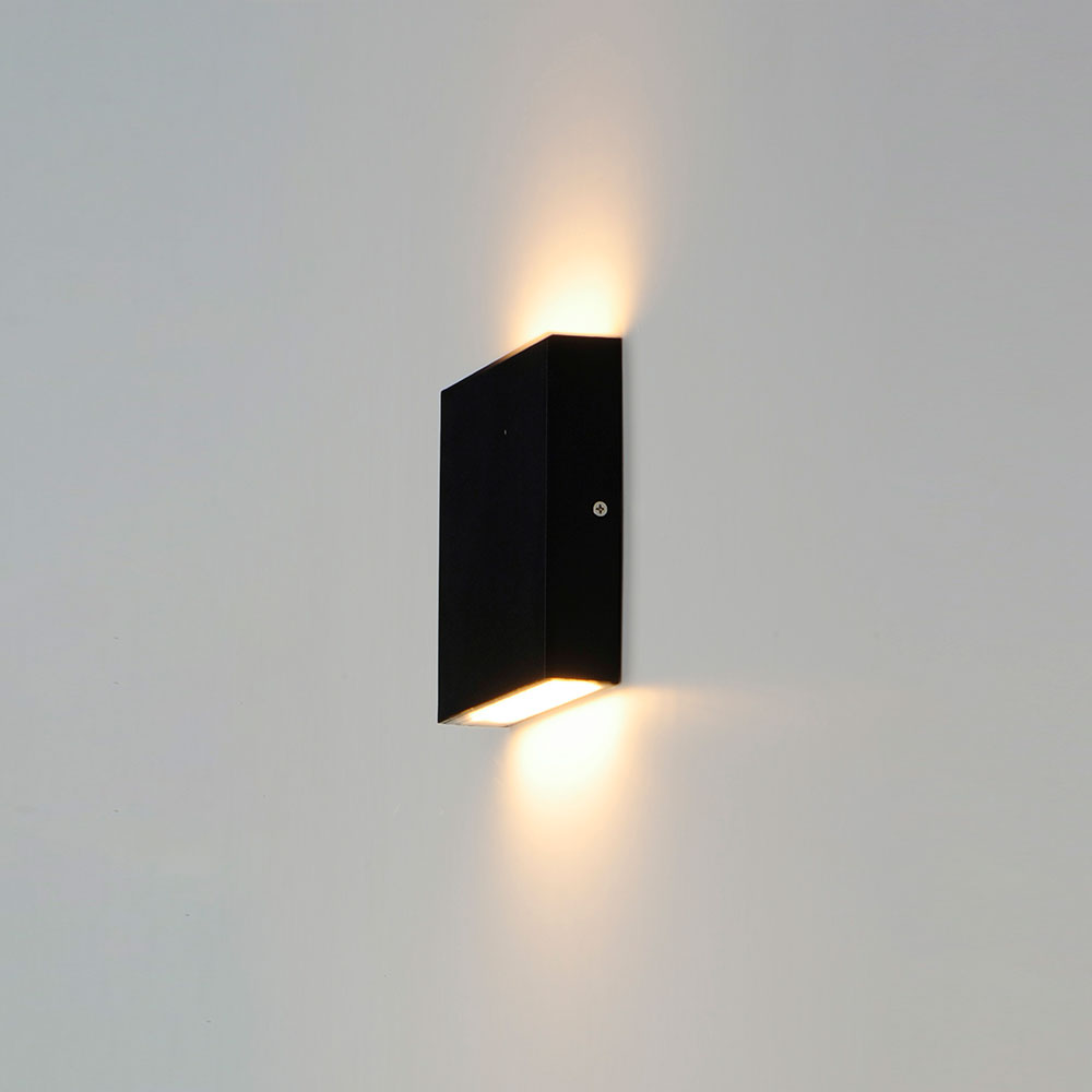 Et2 E23214 Bk Brik Contemporary Black Led Exterior Lighting Sconce Et E23214 Bk