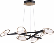 ET2 E23278-93BKSFTG Flare Modern Black / Soft Gold LED 35.5  Chandelier Lighting