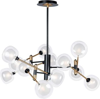 ET2 E23284-93BKGLD Parallel Modern Black / Gold LED Chandelier Lamp