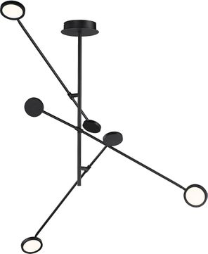 ET2 E23292-BK Paddle Contemporary Black LED Ceiling Chandelier