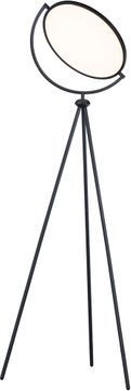 ET2 E23299-BK Paddle Contemporary Black LED Floor Lamp